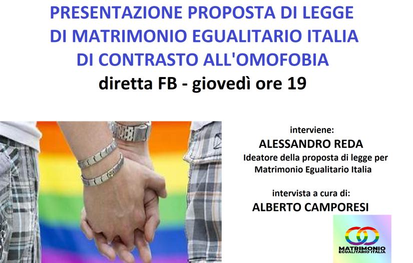 presentazione proposta di legge contro omofobia